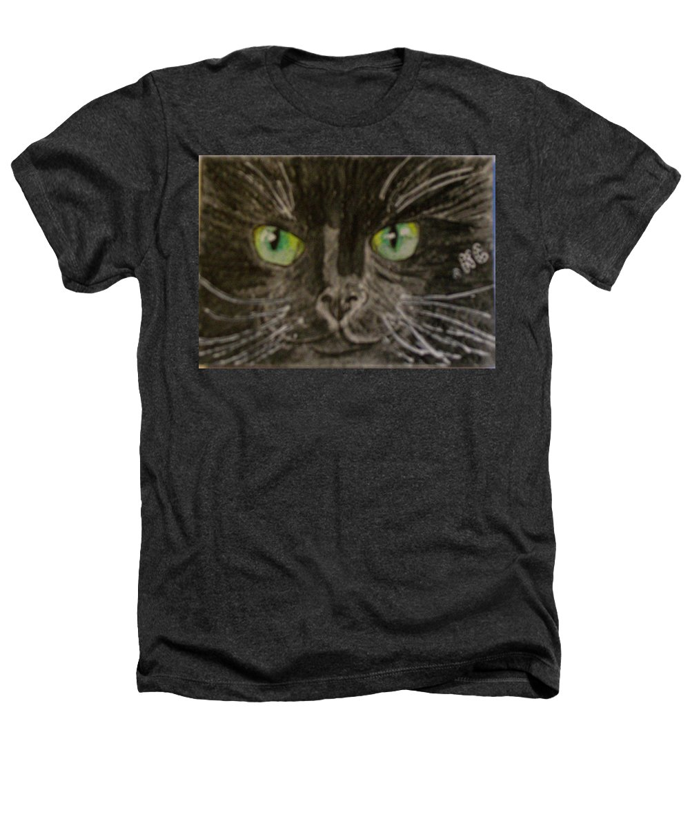 Halloween Heathers T-Shirt featuring the painting Halloween Black Cat I by Kathy Marrs Chandler