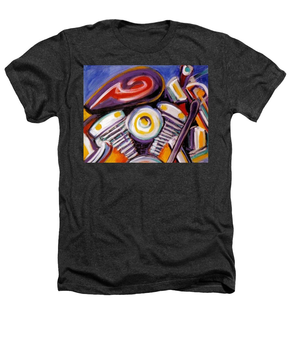 Abstract Heathers T-Shirt featuring the painting Harley Closeup by Anita Burgermeister