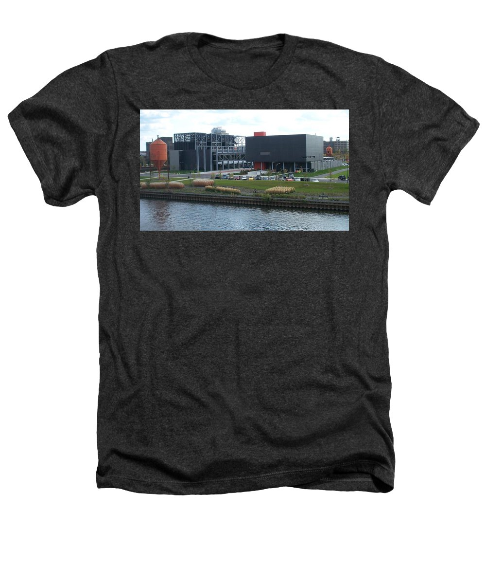 Architechture Heathers T-Shirt featuring the photograph Harley Museum Milwaukee by Anita Burgermeister