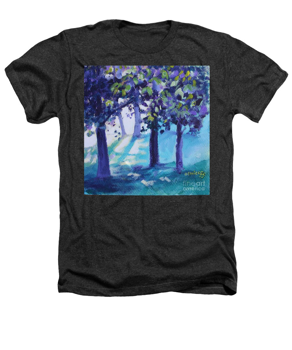 Expressionist Heathers T-Shirt featuring the painting Heart Of The Forest by Jan Bennicoff