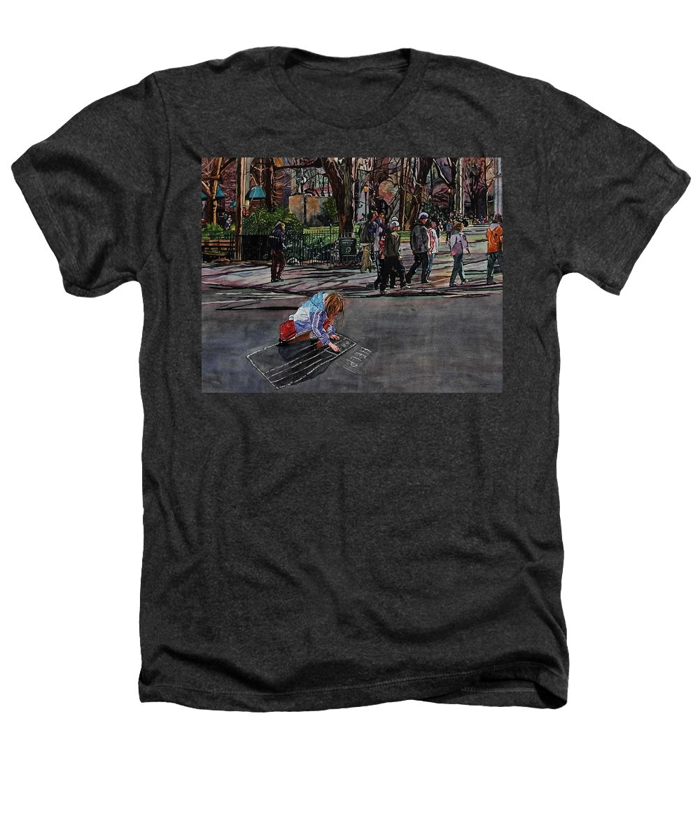 Political Heathers T-Shirt featuring the painting Help by Valerie Patterson