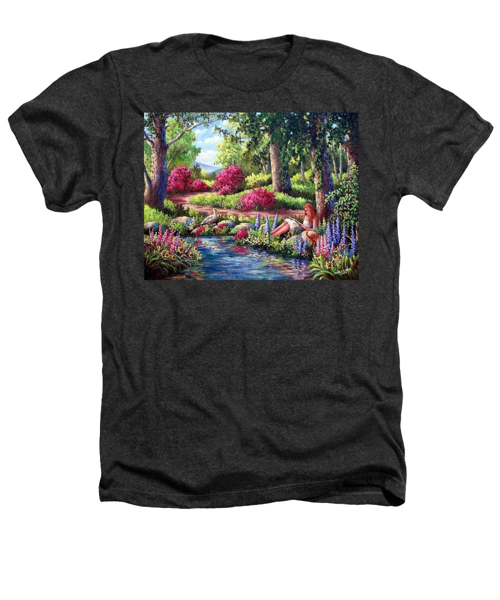 Read Heathers T-Shirt featuring the painting Her Reading Hideaway by David G Paul