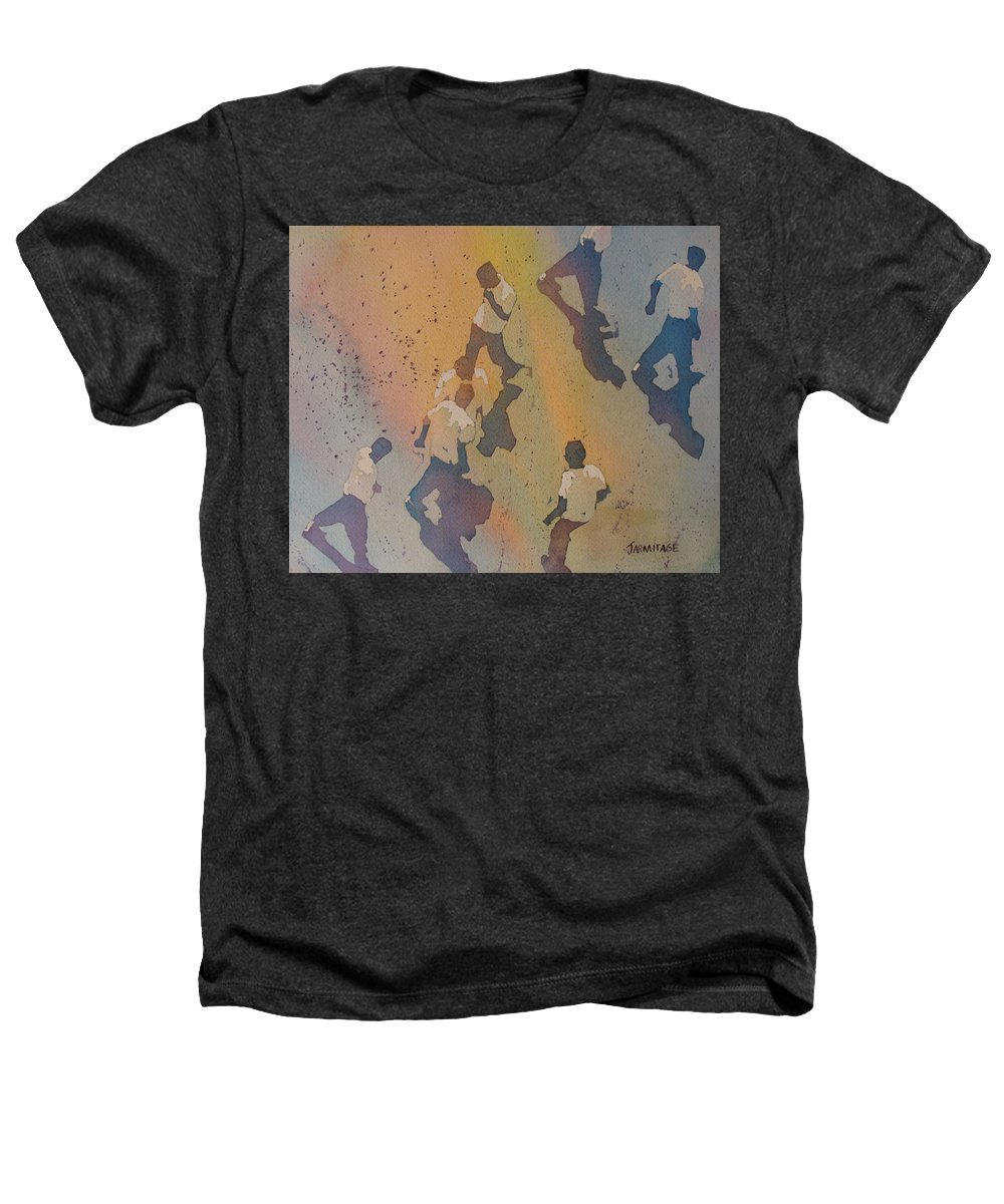 Men Heathers T-Shirt featuring the painting High Noon At The Gravel Spit II by Jenny Armitage