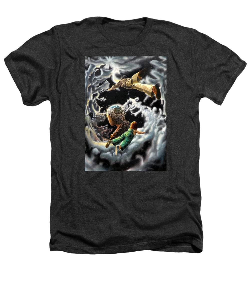 Fantasy Heathers T-Shirt featuring the painting Homecoming by Dave Martsolf