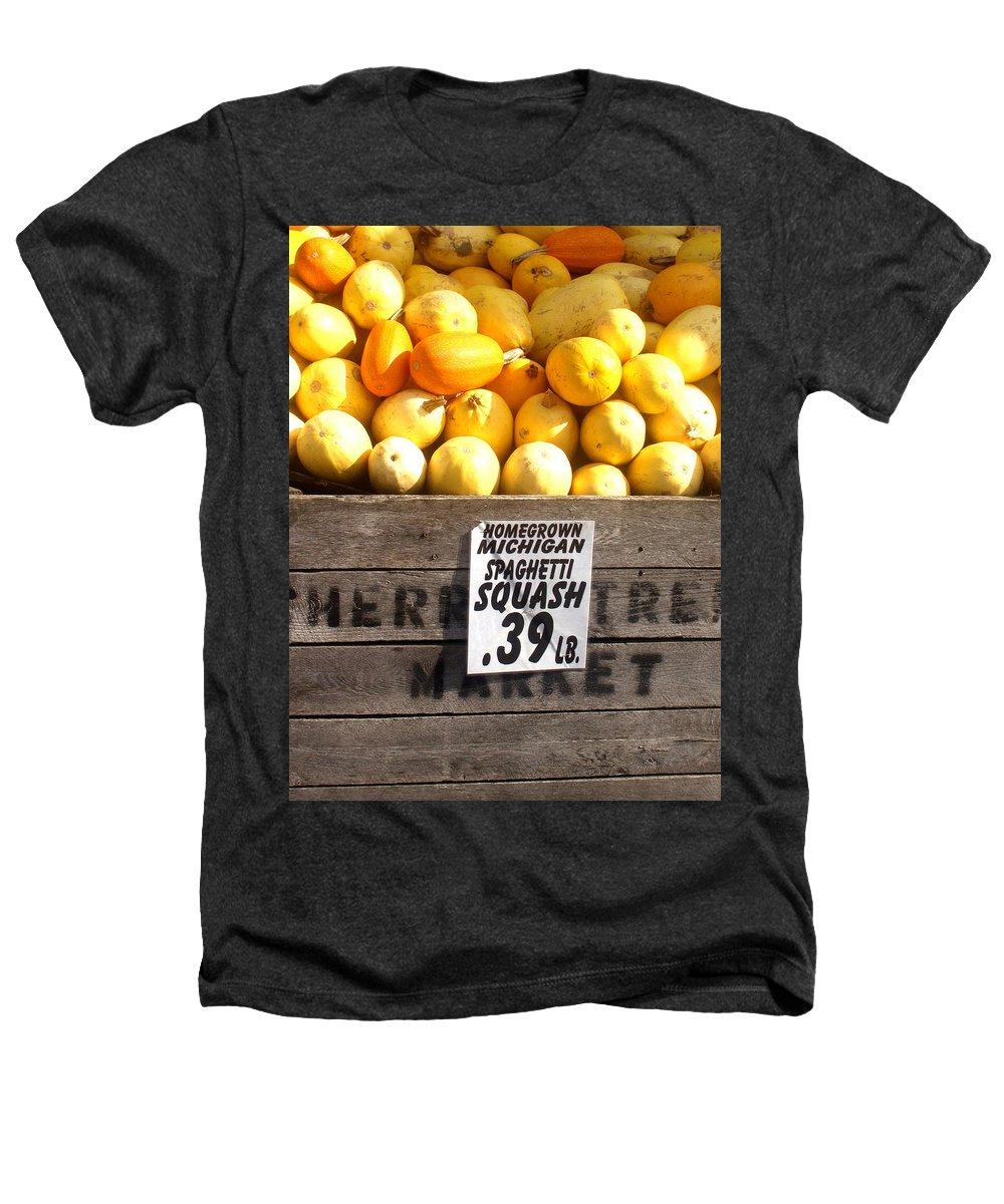 Michigan Heathers T-Shirt featuring the photograph Homegrown Michigan Spaghetti Squash by Wayne Potrafka