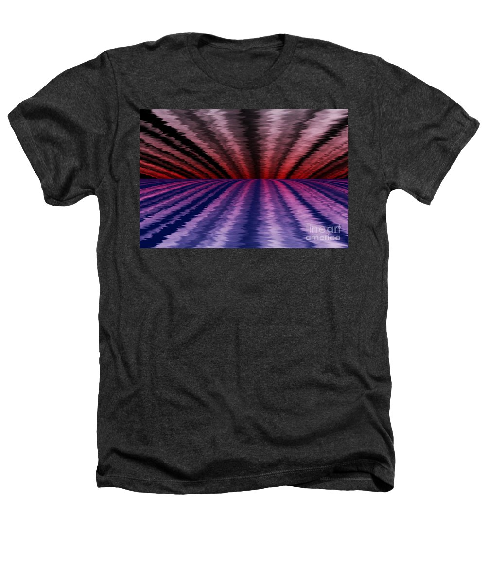 Abstract Heathers T-Shirt featuring the digital art Horizon by David Lane