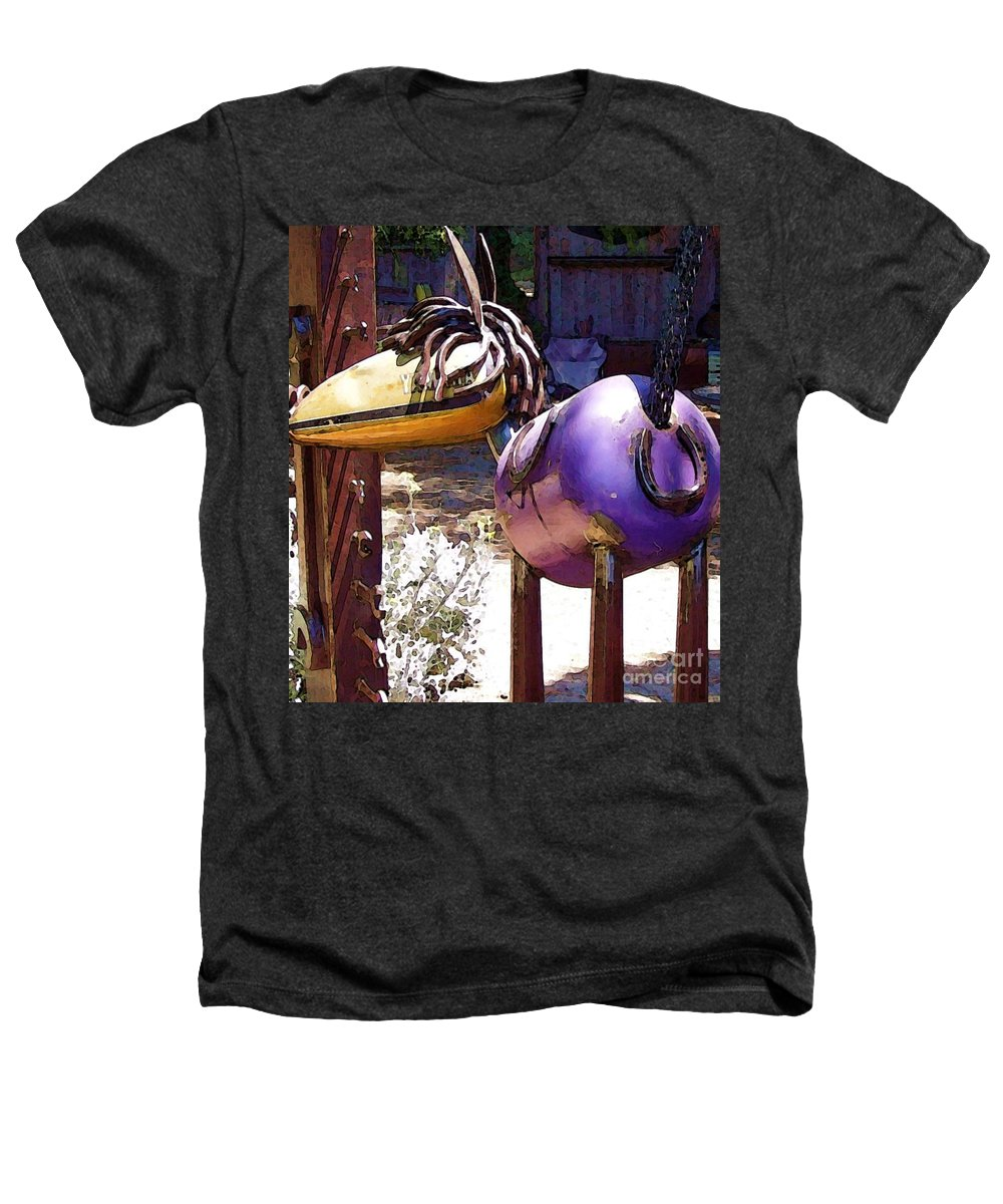 Sculpture Heathers T-Shirt featuring the photograph Horse With No Name by Debbi Granruth