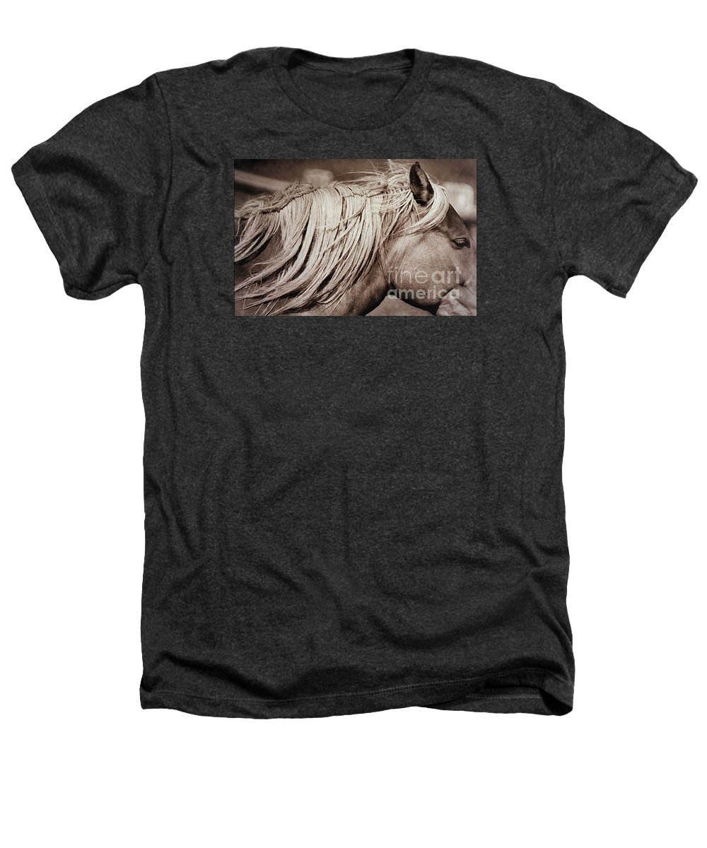 Horse Heathers T-Shirt featuring the photograph Horse's Mane by Michael Ziegler