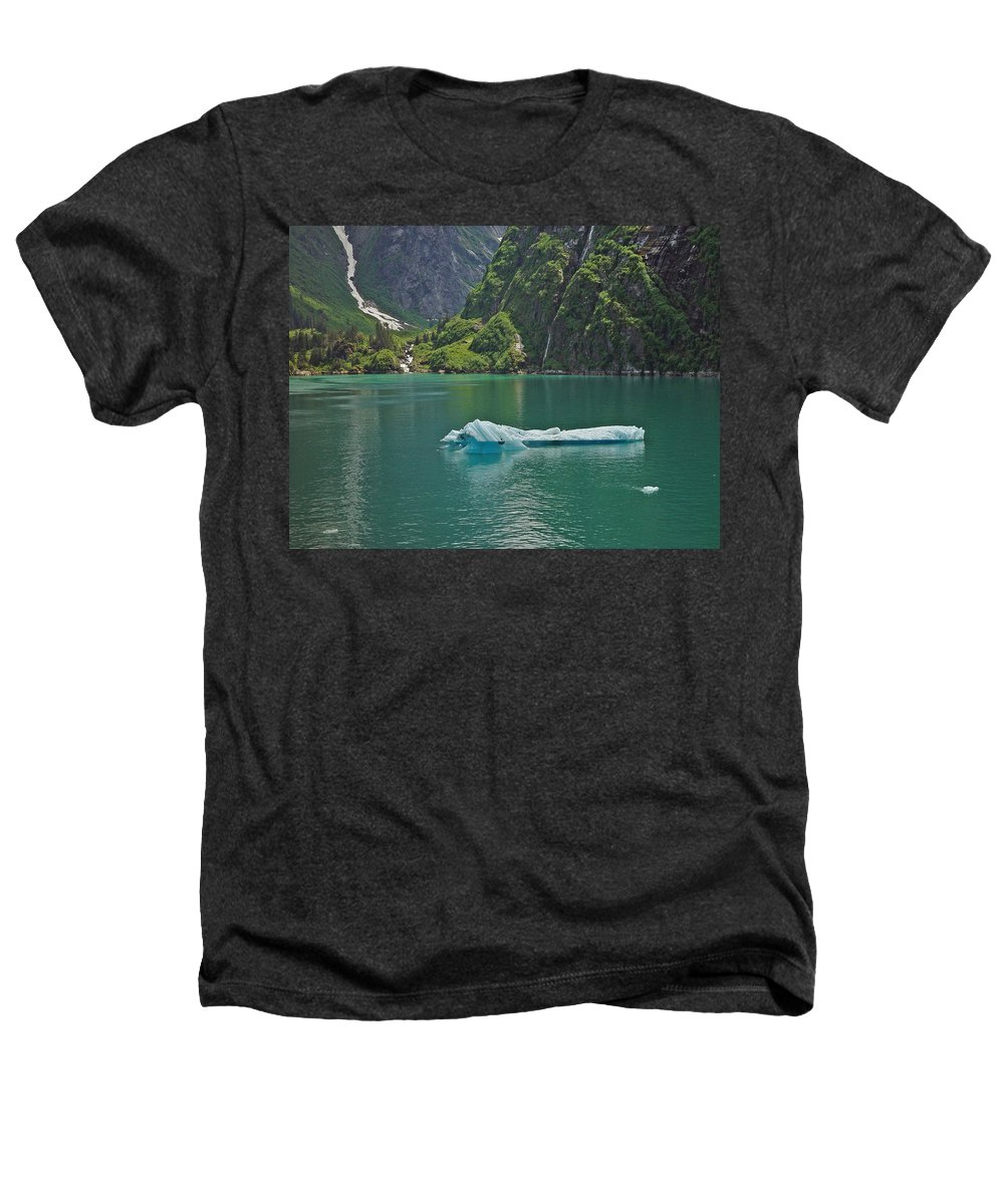 Iceburg Heathers T-Shirt featuring the photograph Ice Tracy Arm Alaska by Heather Coen