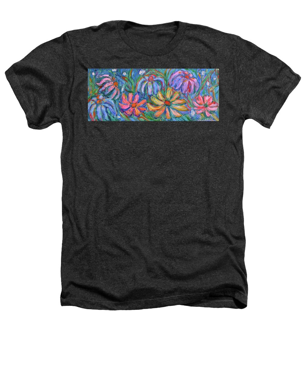 Flowers Heathers T-Shirt featuring the painting Imaginary Flowers by Kendall Kessler