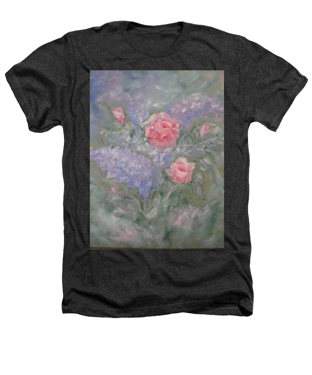 Flowers Heathers T-Shirt featuring the painting In Bloom by Carrie Mayotte