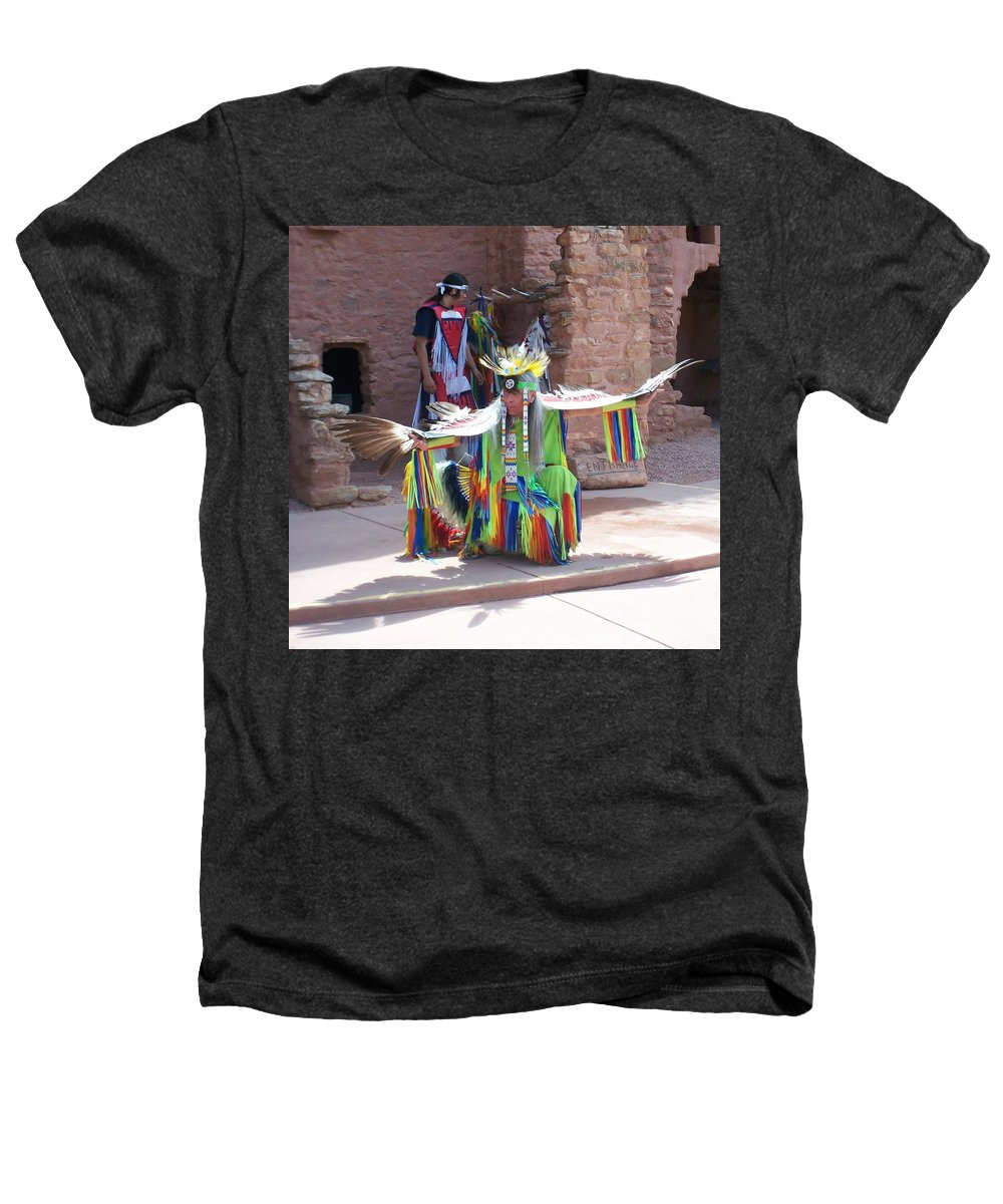 Indian Dancer Heathers T-Shirt featuring the photograph Indian Dancer by Anita Burgermeister