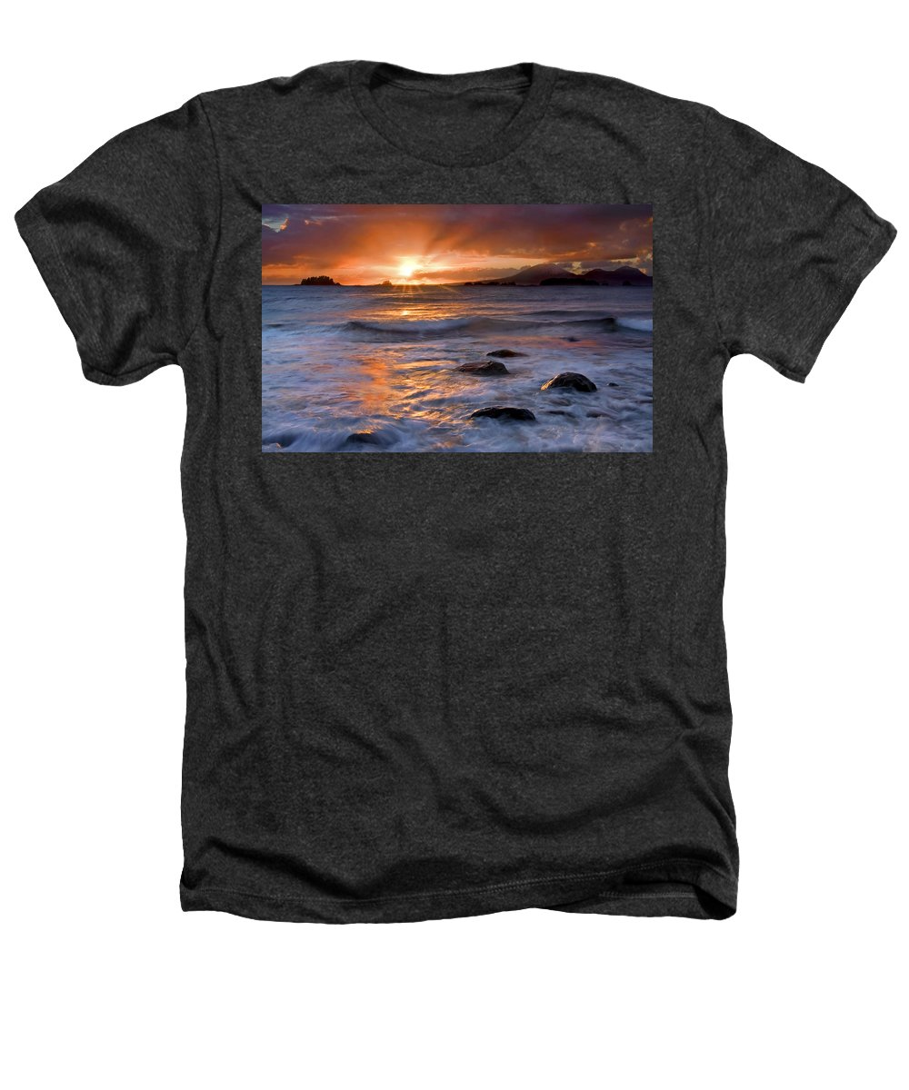Alaska Heathers T-Shirt featuring the photograph Inspired Light by Mike Dawson