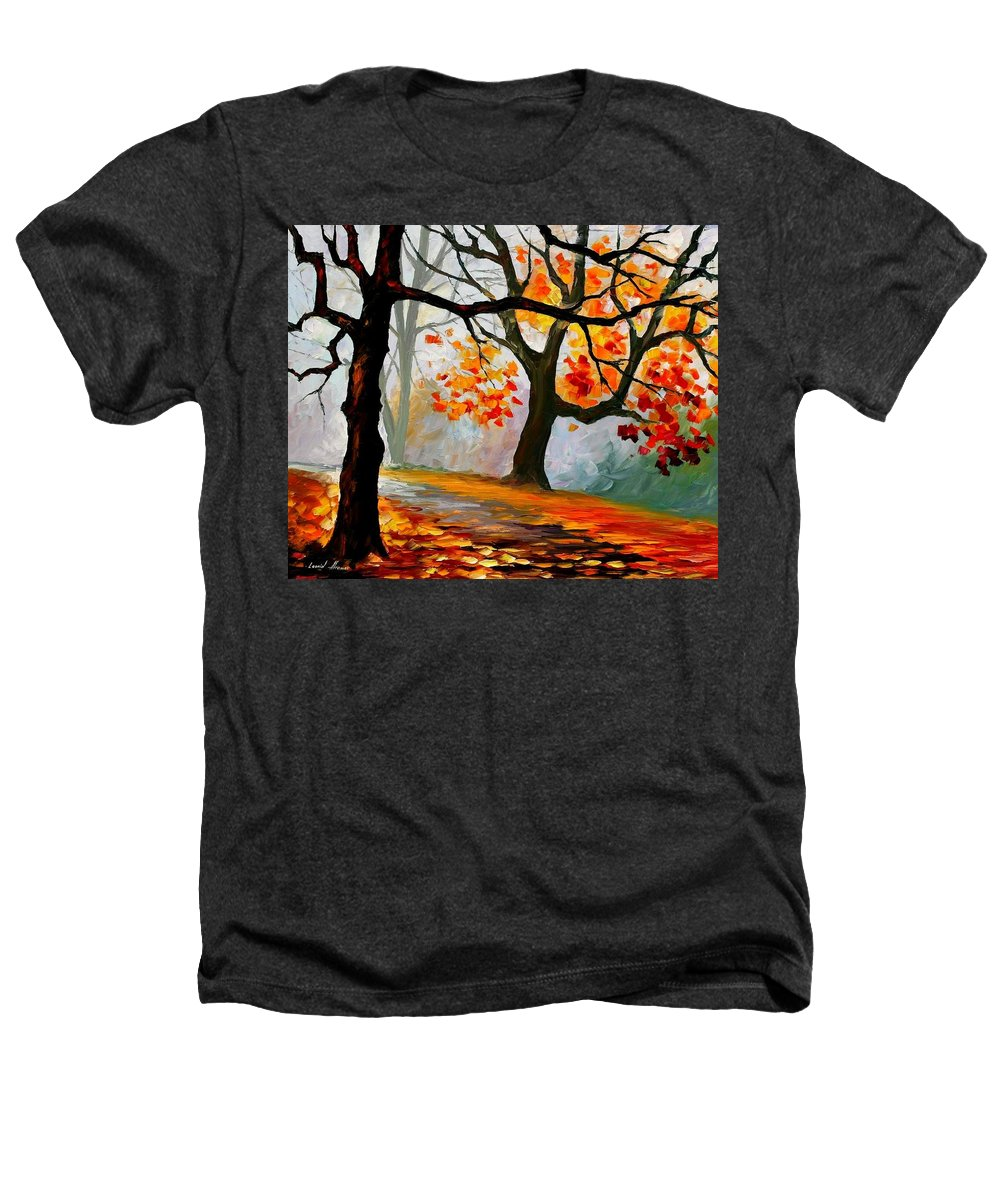 Landscape Heathers T-Shirt featuring the painting Interplacement by Leonid Afremov