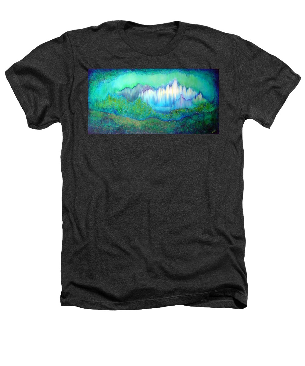 Blue Heathers T-Shirt featuring the painting Into The Ocean by Shadia Derbyshire