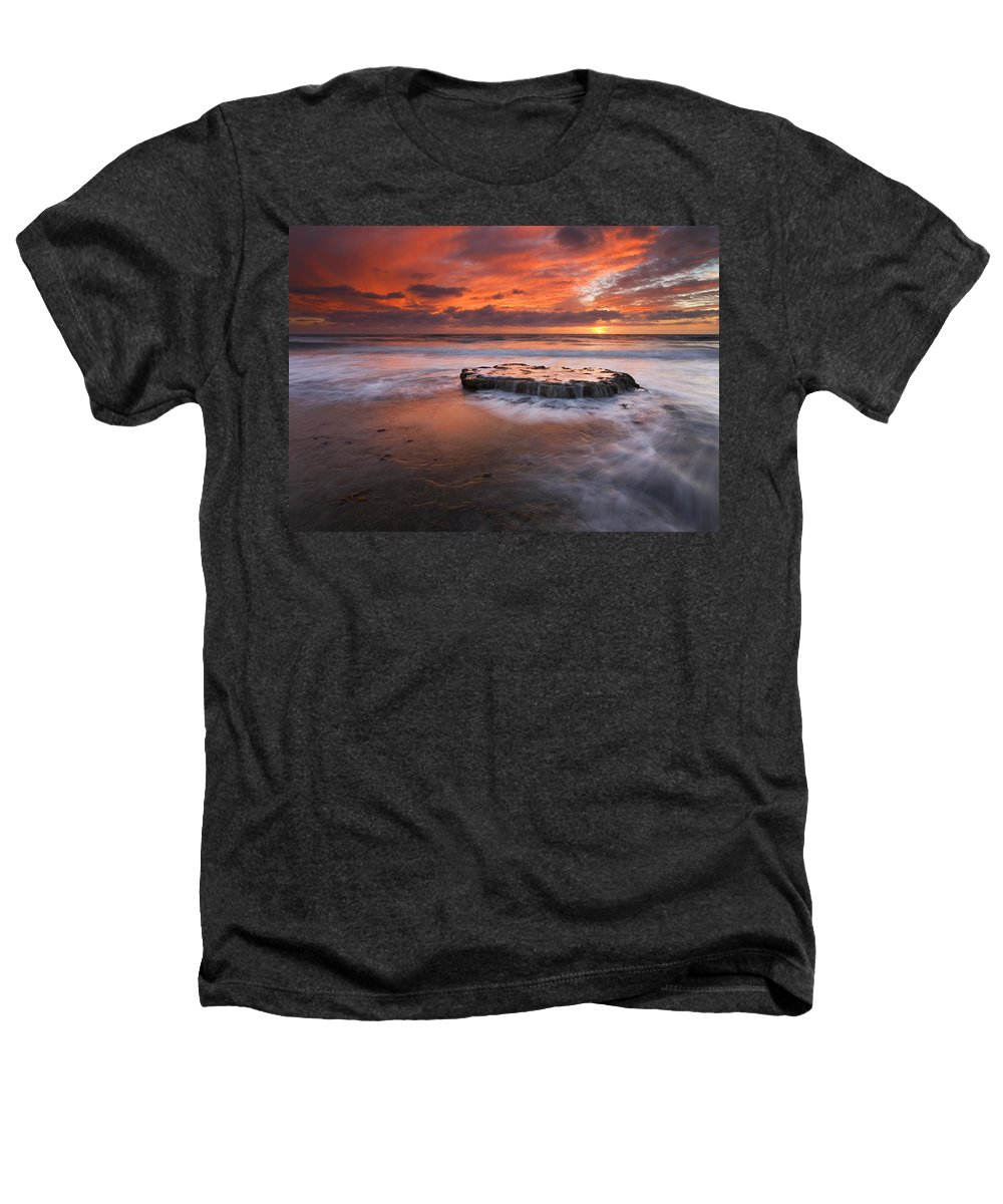 Island Heathers T-Shirt featuring the photograph Island In The Storm by Mike Dawson