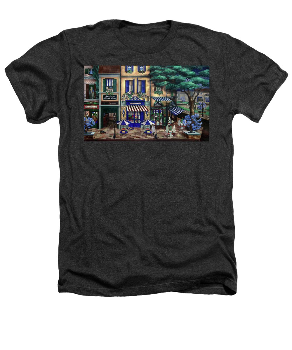 Italian Heathers T-Shirt featuring the mixed media Italian Cafe by Curtiss Shaffer