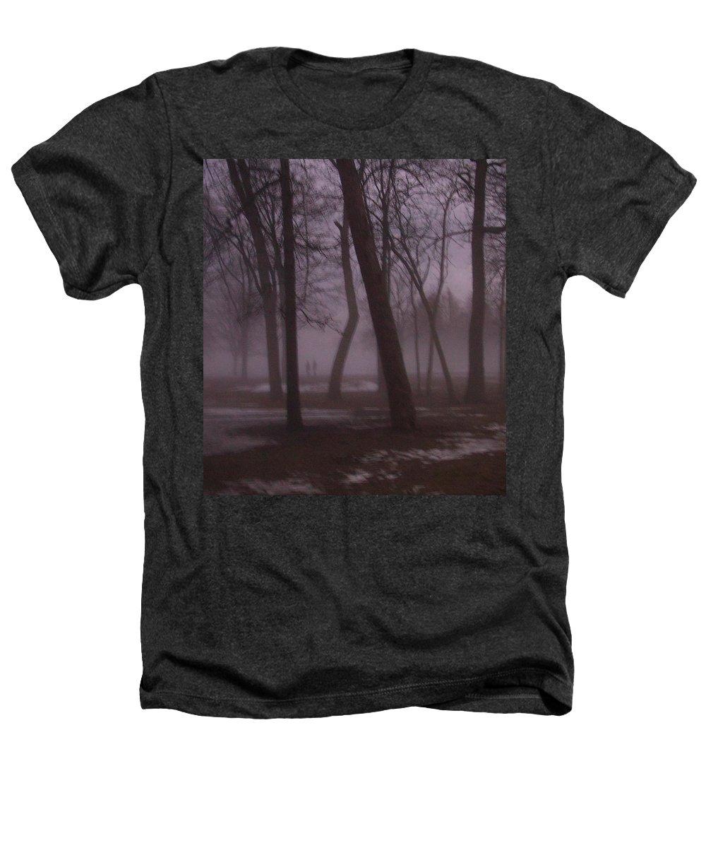 January Heathers T-Shirt featuring the photograph January Fog 1 by Anita Burgermeister