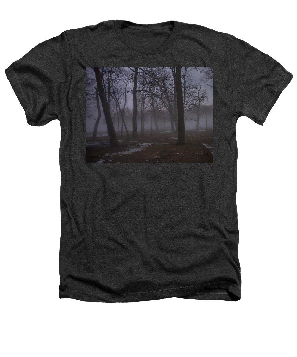 January Heathers T-Shirt featuring the photograph January Fog 2 by Anita Burgermeister