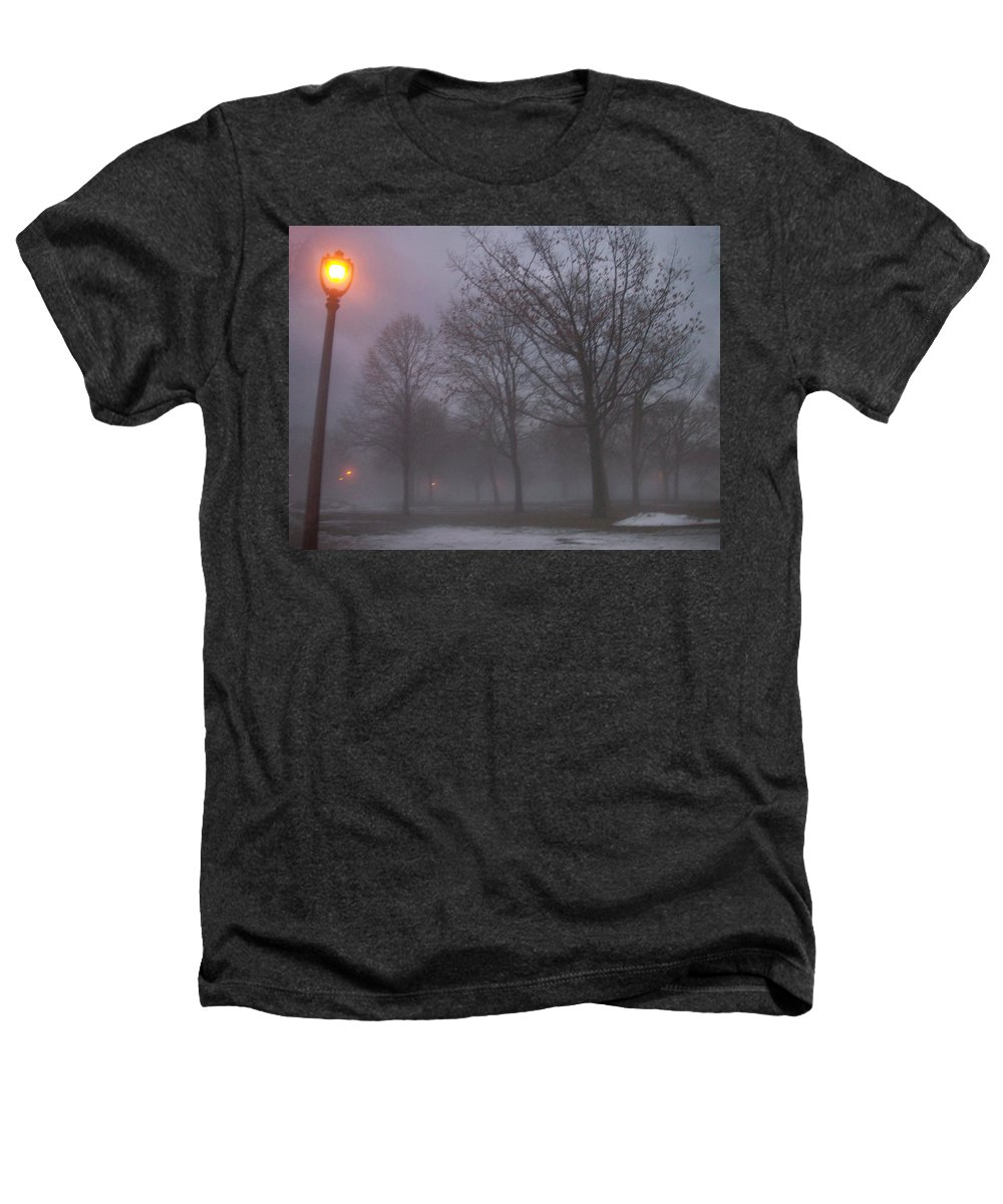 January Heathers T-Shirt featuring the photograph January Fog 3 by Anita Burgermeister