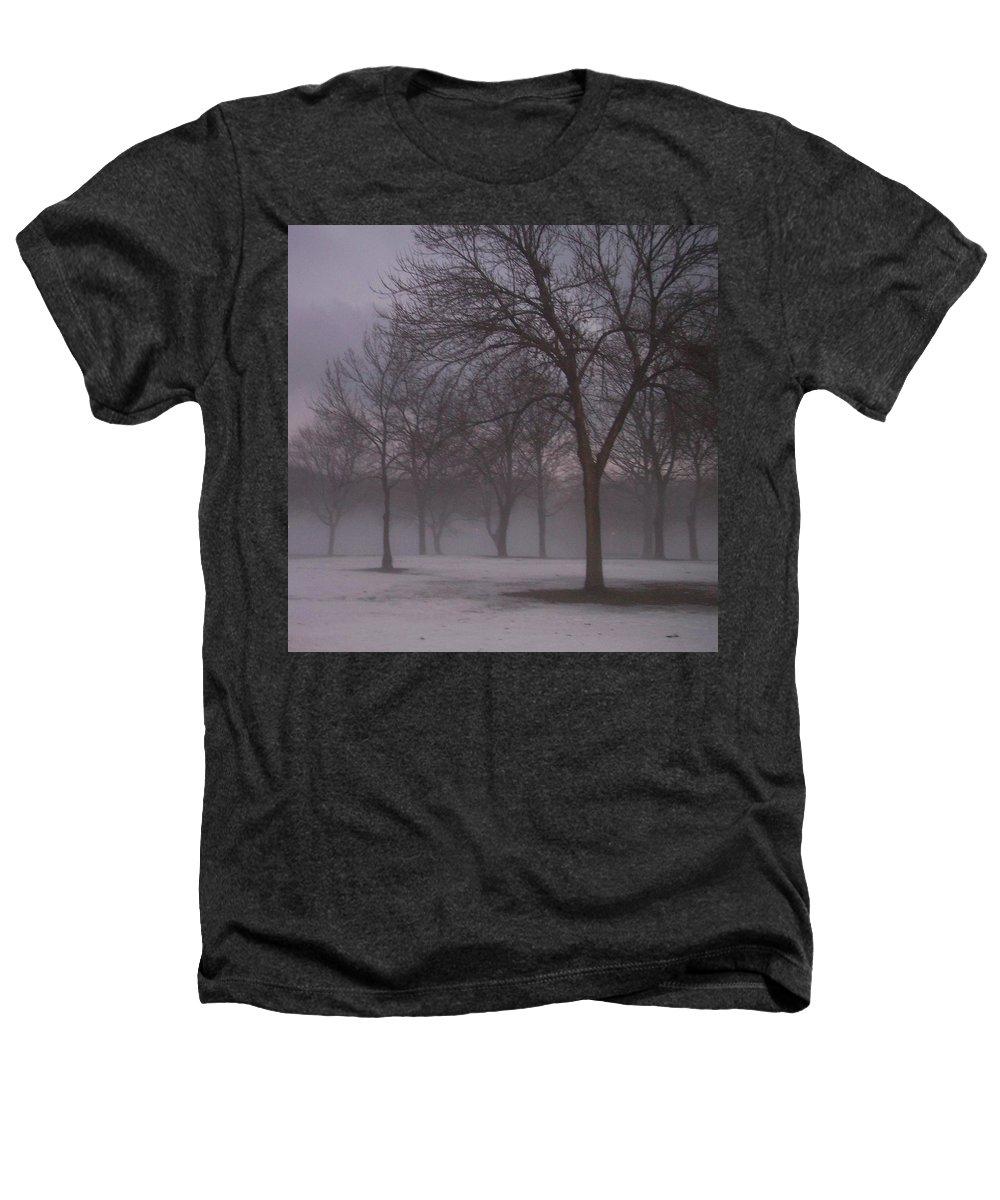 January Heathers T-Shirt featuring the photograph January Fog 4 by Anita Burgermeister