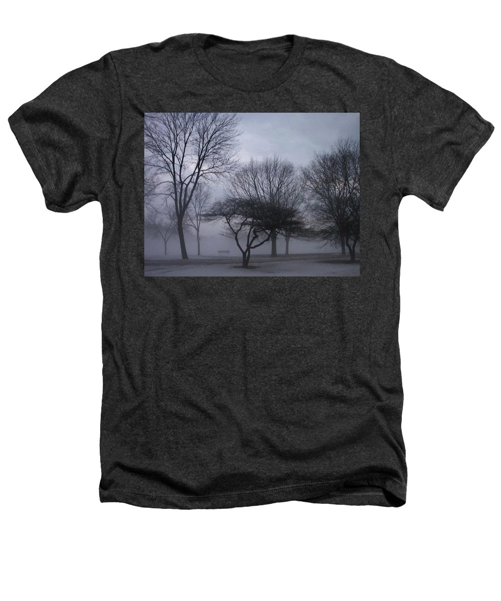 January Heathers T-Shirt featuring the photograph January Fog 6 by Anita Burgermeister