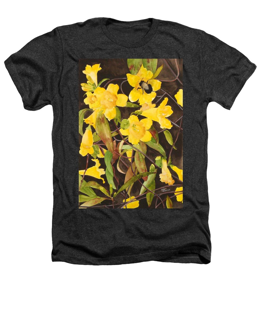 Flowers Heathers T-Shirt featuring the painting Jessamine Jungle by Jean Blackmer
