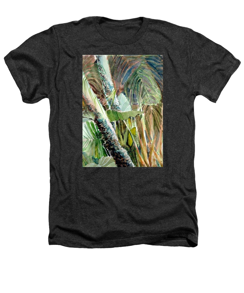 Palm Tree Heathers T-Shirt featuring the painting Jungle Light by Mindy Newman