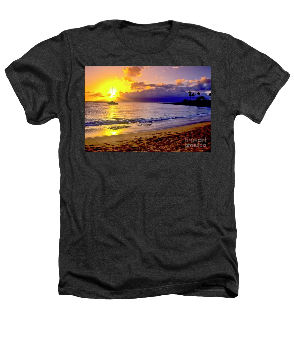 Scenics Heathers T-Shirt featuring the photograph Kapalua Bay Sunset by Jim Cazel
