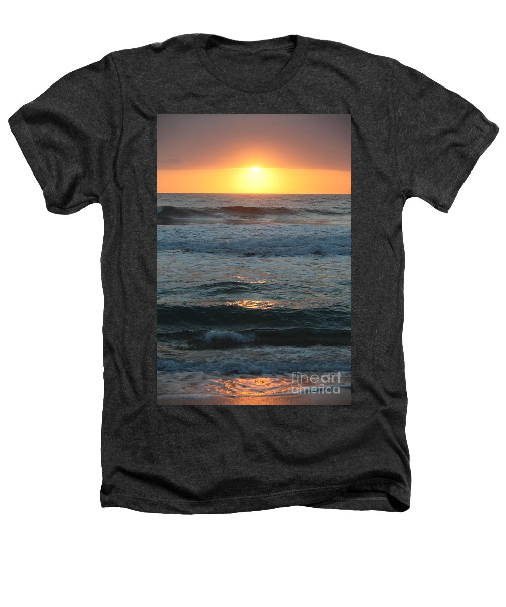 Kauai Heathers T-Shirt featuring the photograph Kauai Sunrise by Nadine Rippelmeyer