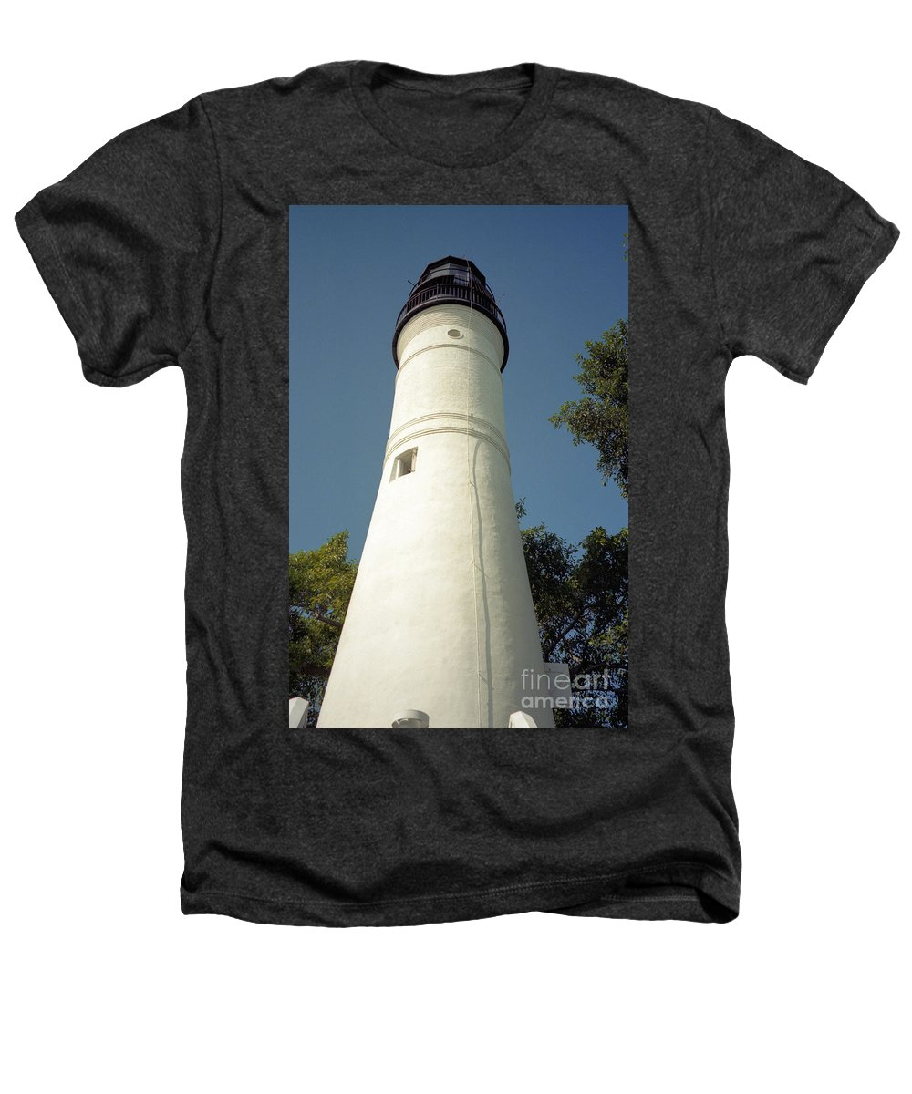 Lighthouses Heathers T-Shirt featuring the photograph Key West Lighthouse by Richard Rizzo