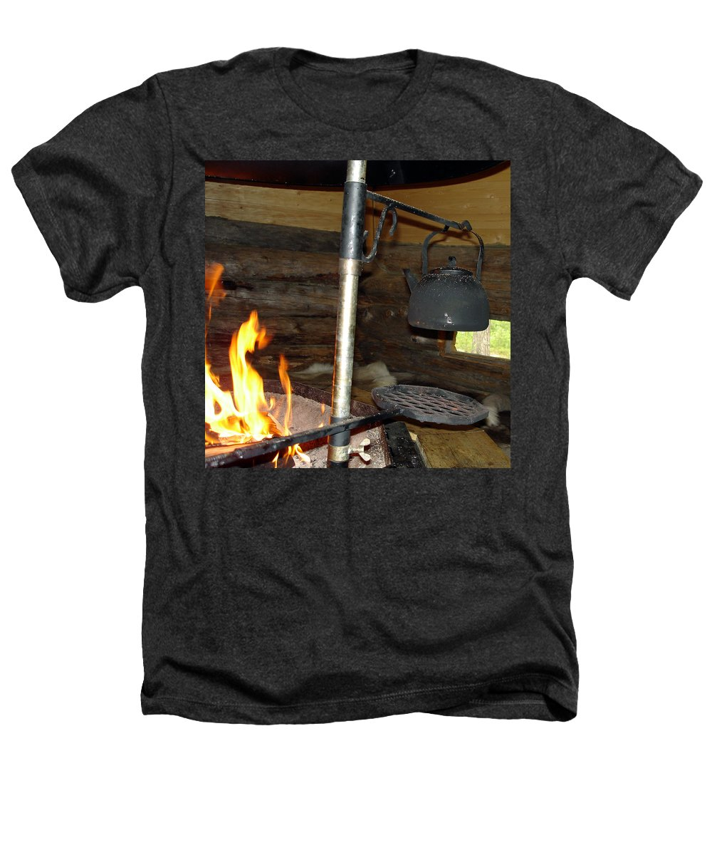 Kota Heathers T-Shirt featuring the photograph Kota Kitchen In Lapland by Merja Waters