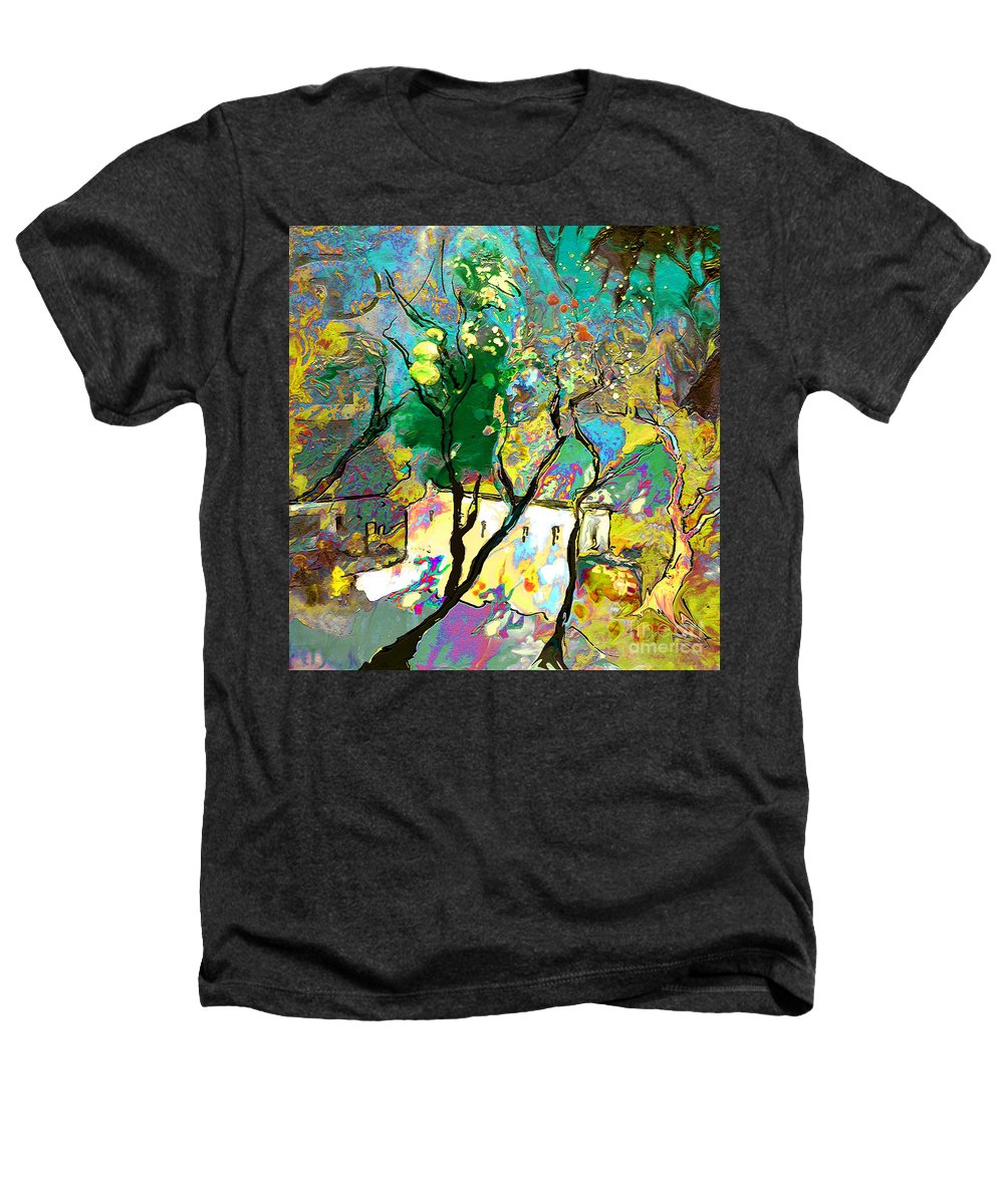 Miki Heathers T-Shirt featuring the painting La Provence 16 by Miki De Goodaboom