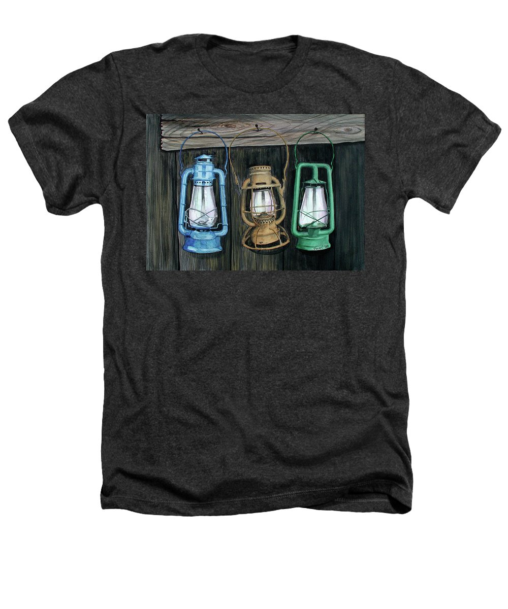 Lanterns Heathers T-Shirt featuring the painting Lanterns by Ferrel Cordle