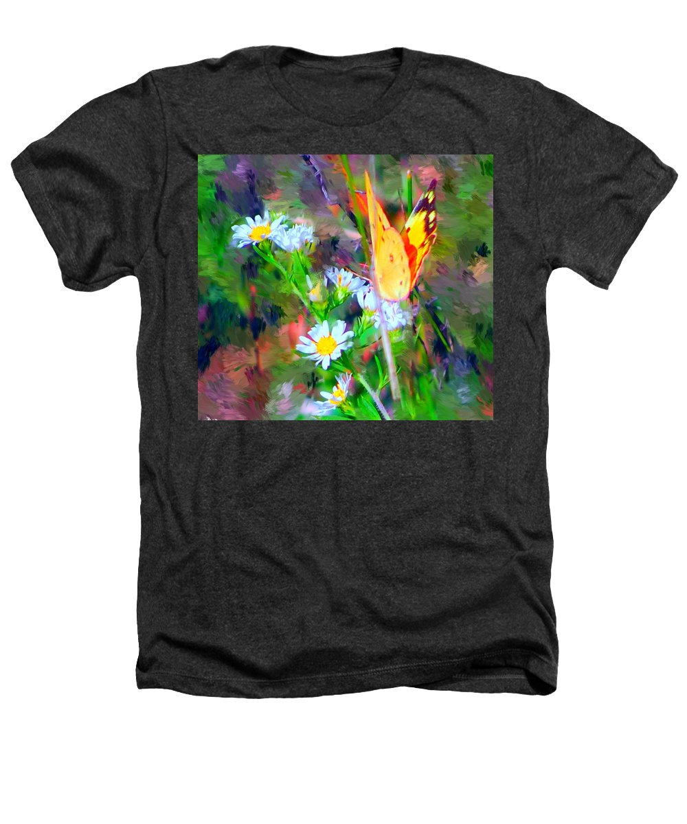 Landscape Heathers T-Shirt featuring the painting Last Of The Season by David Lane