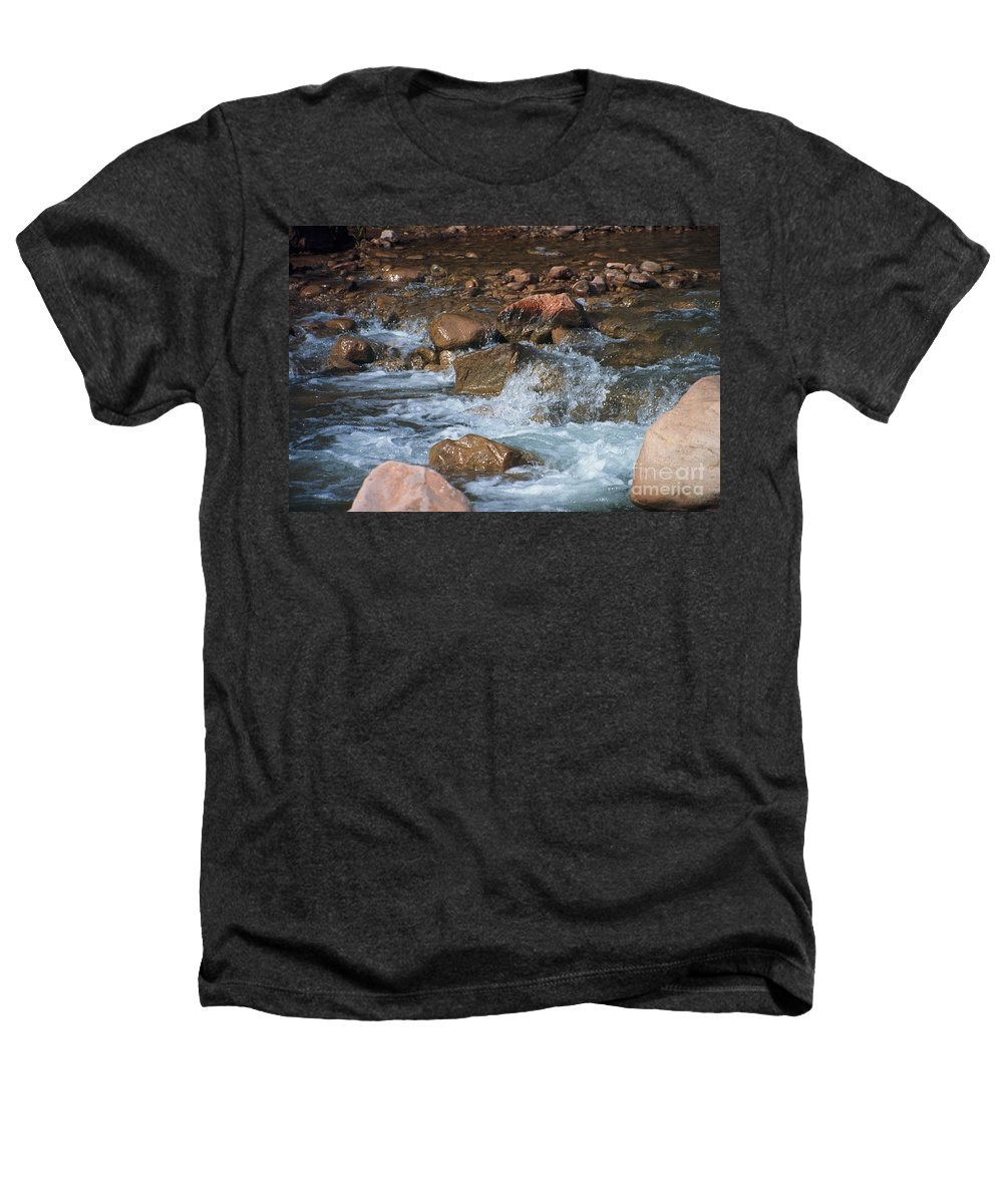 Creek Heathers T-Shirt featuring the photograph Laughing Water by Kathy McClure