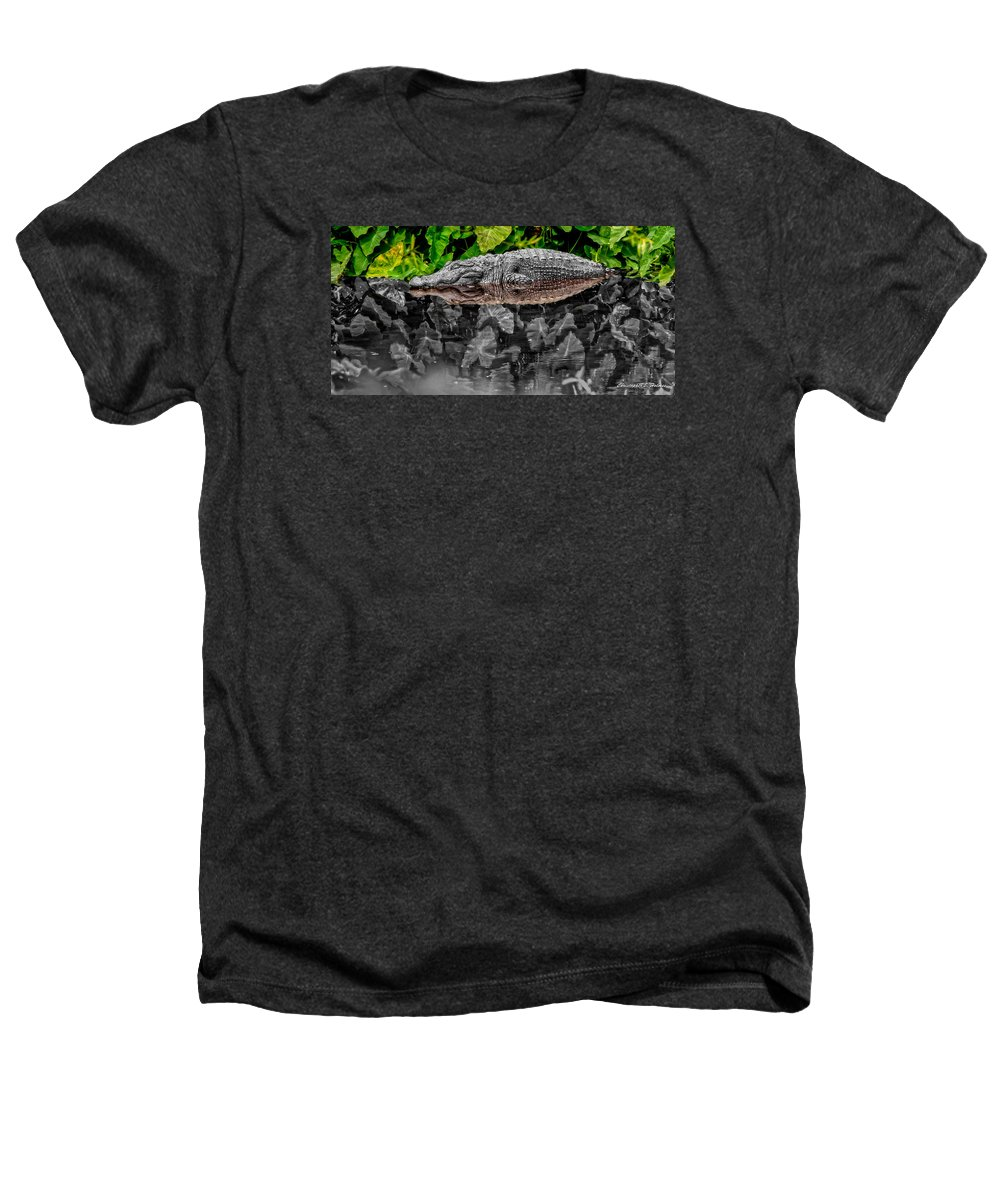 American Heathers T-Shirt featuring the photograph Let Sleeping Gators Lie - Mod by Christopher Holmes