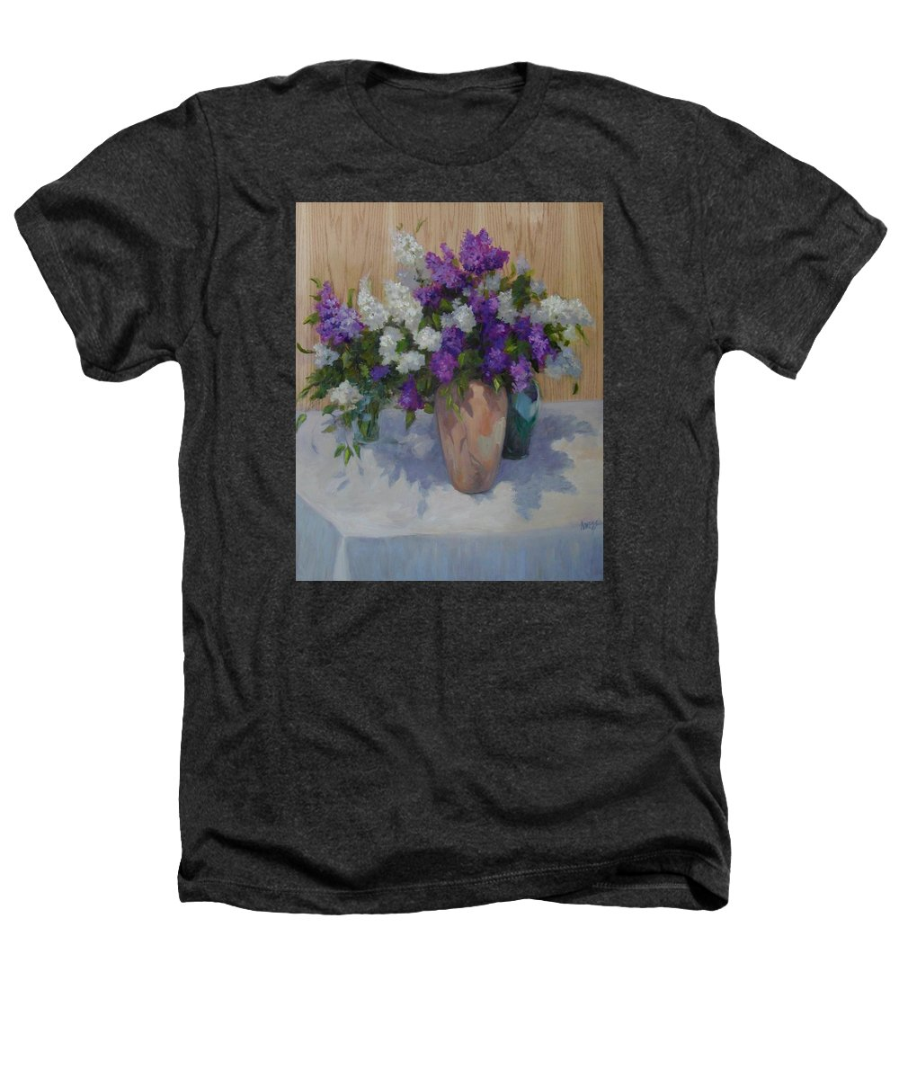 Lilacs Heathers T-Shirt featuring the painting Lilacs by Patricia Kness