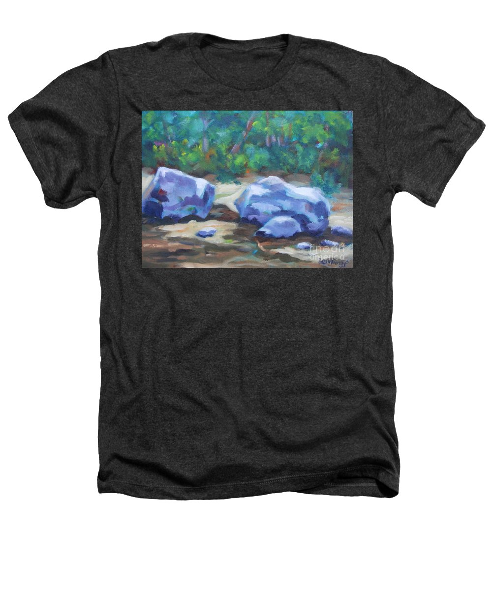 Expressionist Landscape Heathers T-Shirt featuring the painting Lindenlure by Jan Bennicoff