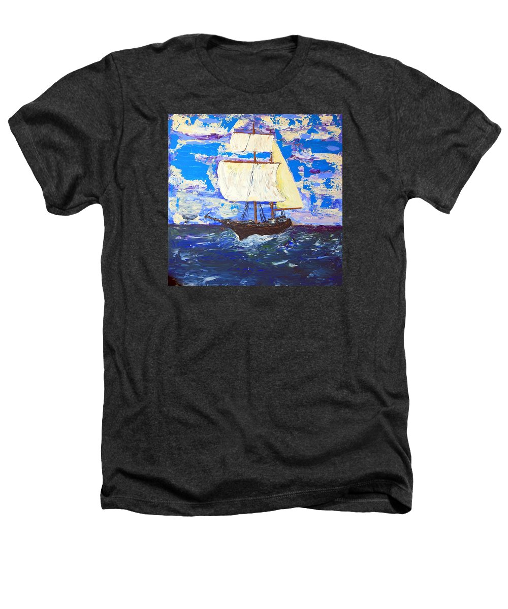 Clipper Heathers T-Shirt featuring the painting Little Clipper by J R Seymour