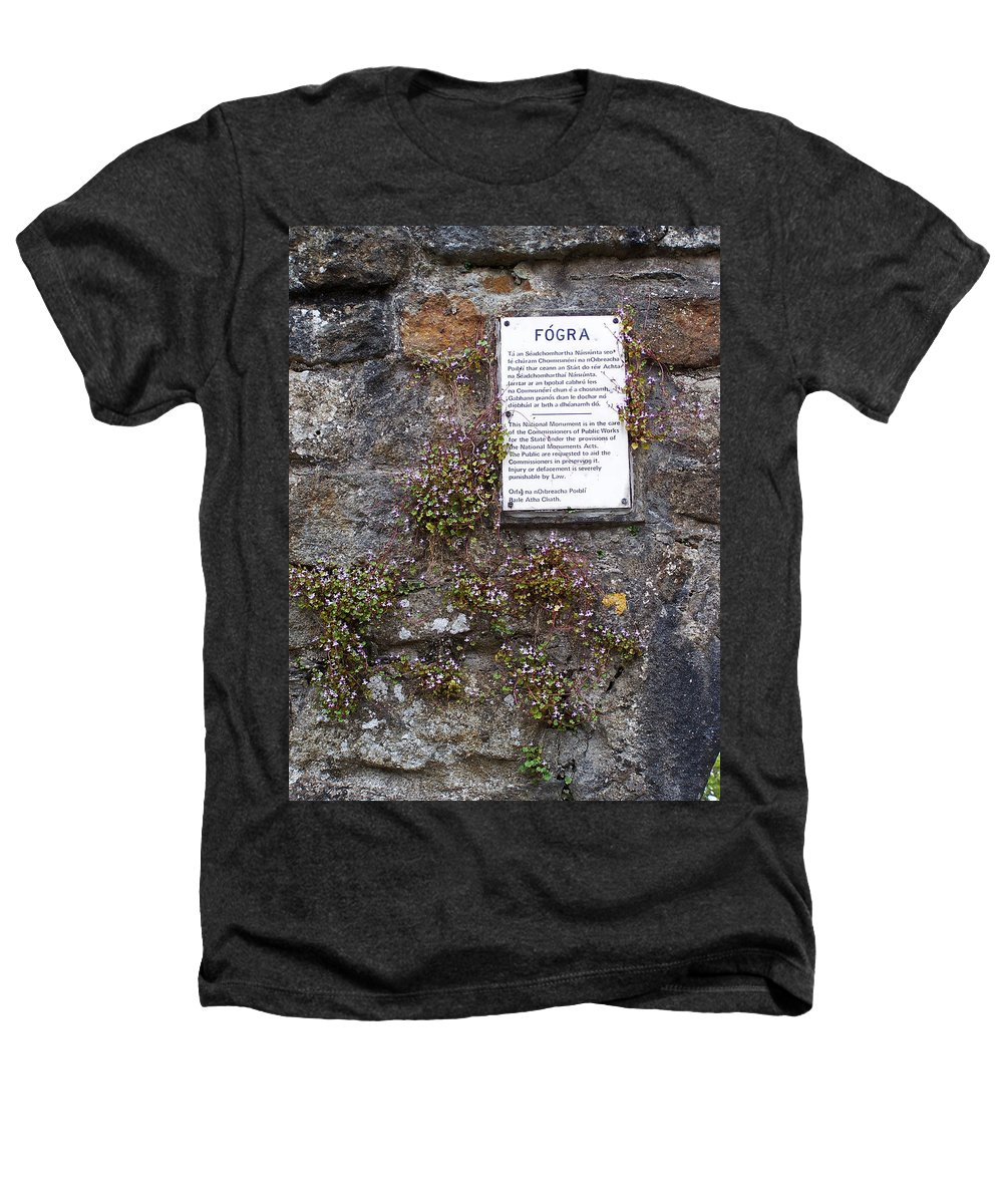 Irish Heathers T-Shirt featuring the photograph Living Wall At Donegal Castle Ireland by Teresa Mucha