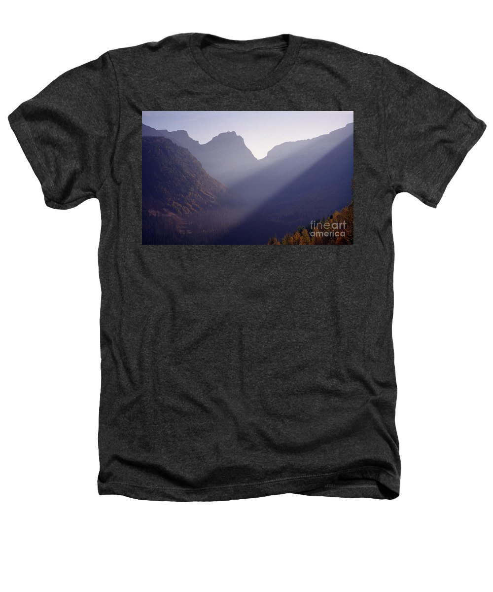 Mountains Heathers T-Shirt featuring the photograph Logan Pass by Richard Rizzo
