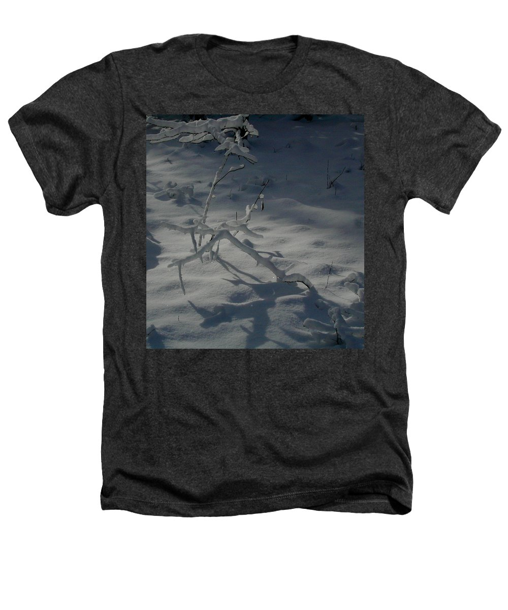 Loneliness Heathers T-Shirt featuring the photograph Loneliness In The Cold by Douglas Barnett