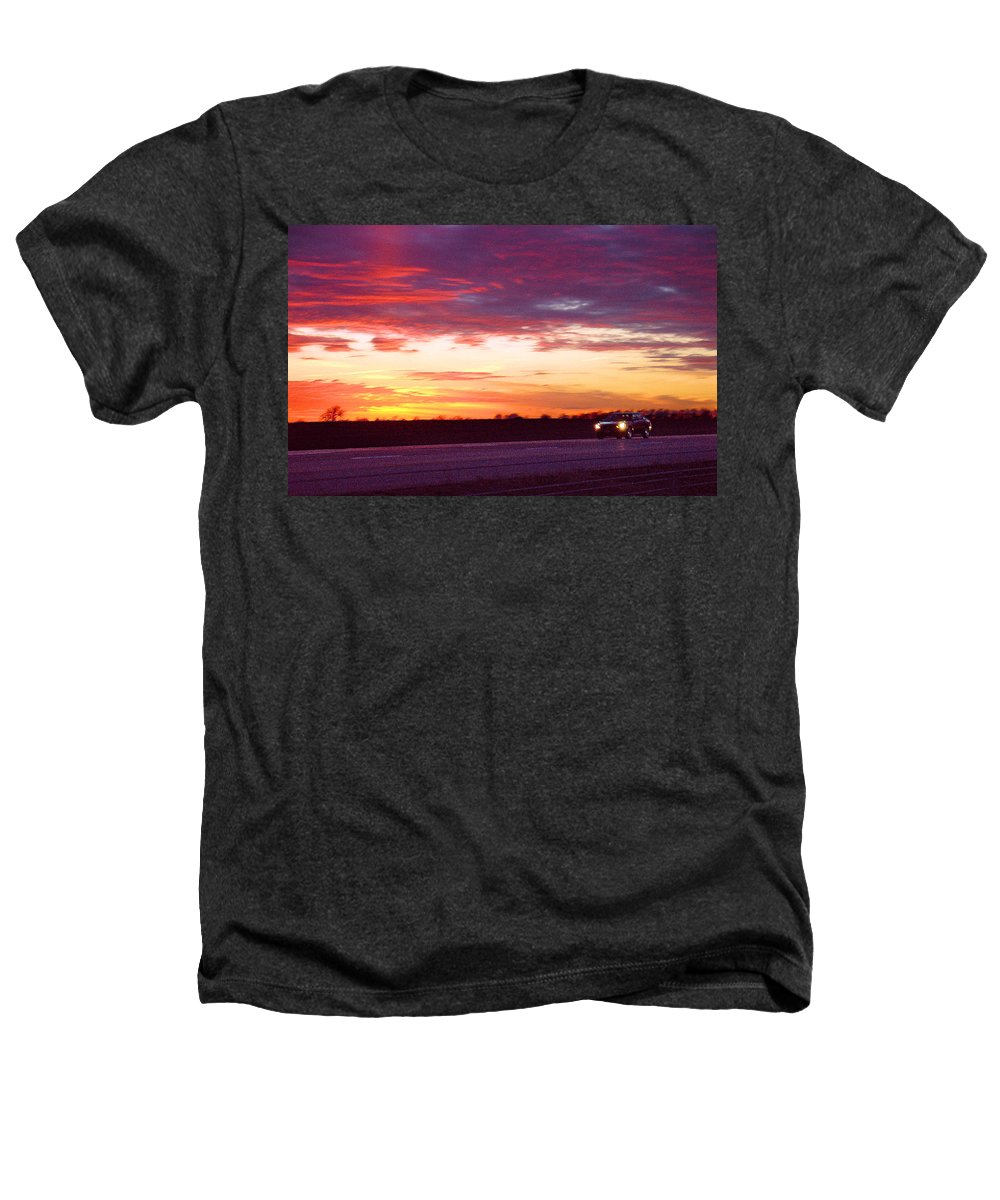 Landscape Heathers T-Shirt featuring the photograph Lonesome Highway by Steve Karol