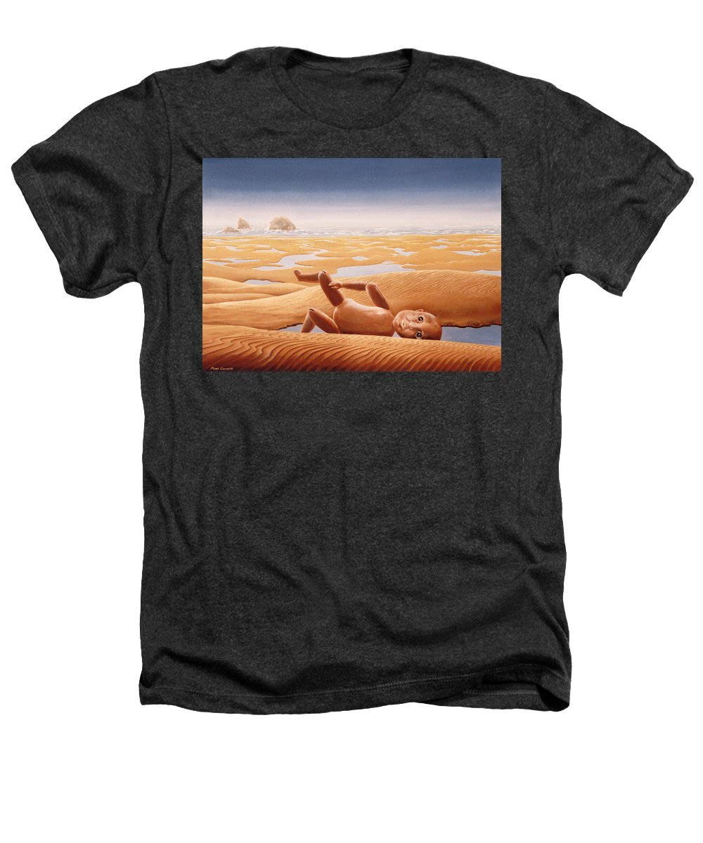 Surreal Heathers T-Shirt featuring the painting Lost In A Dream by Mark Cawood