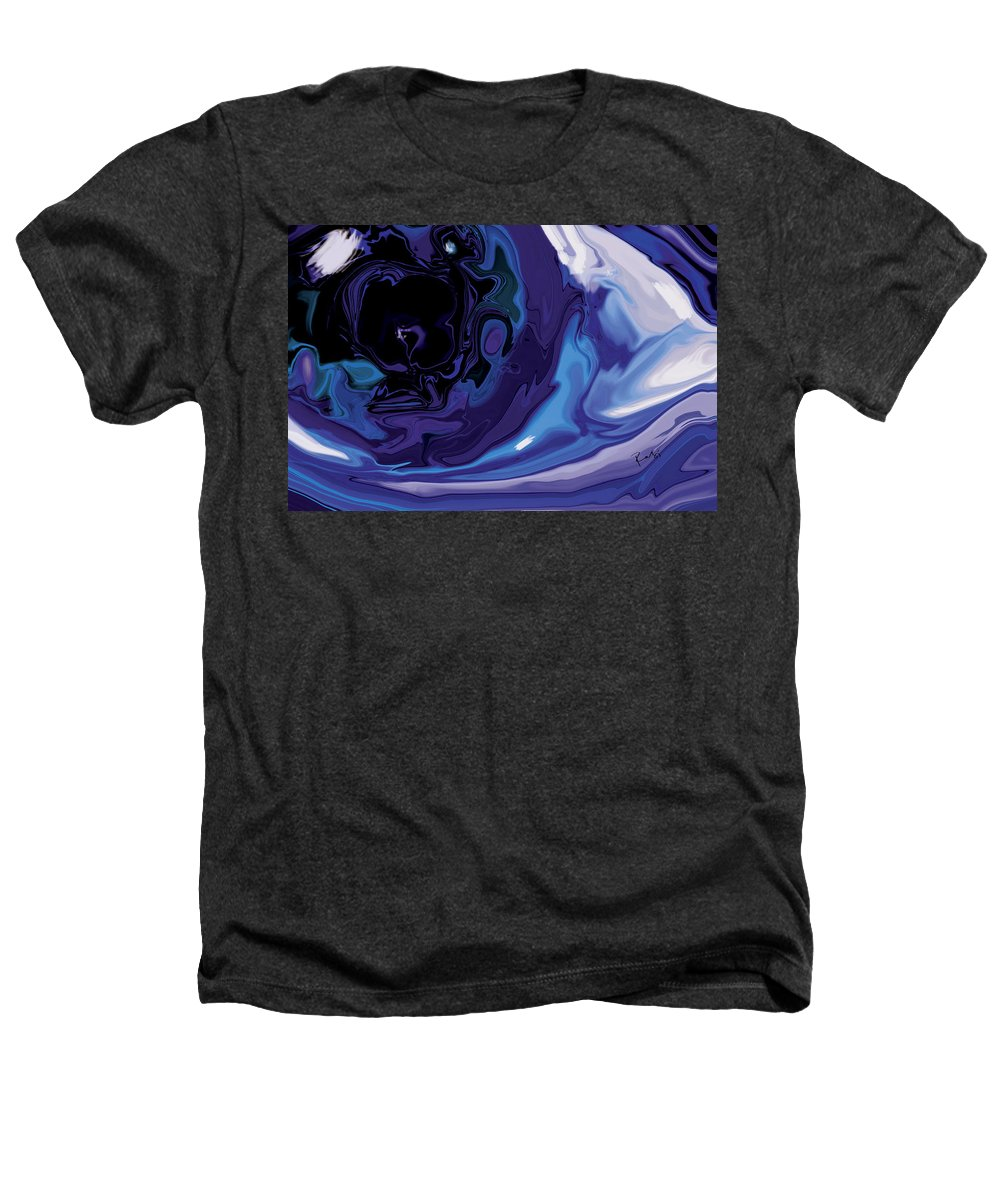 Blue Heathers T-Shirt featuring the digital art Lost-in-to-the-eye by Rabi Khan