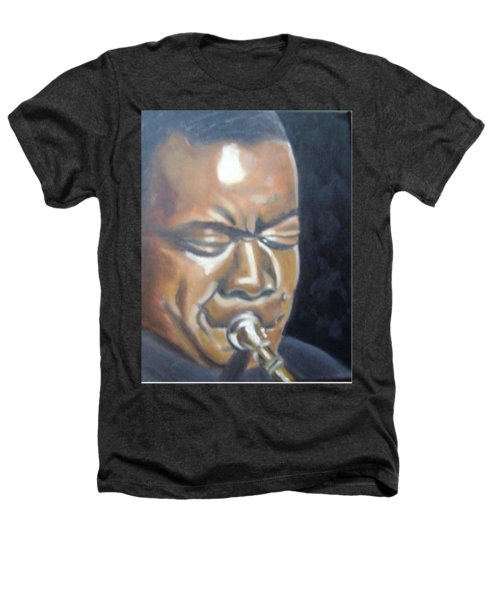 Louis Armstrong Heathers T-Shirt featuring the painting Louis Armstrong by Toni Berry
