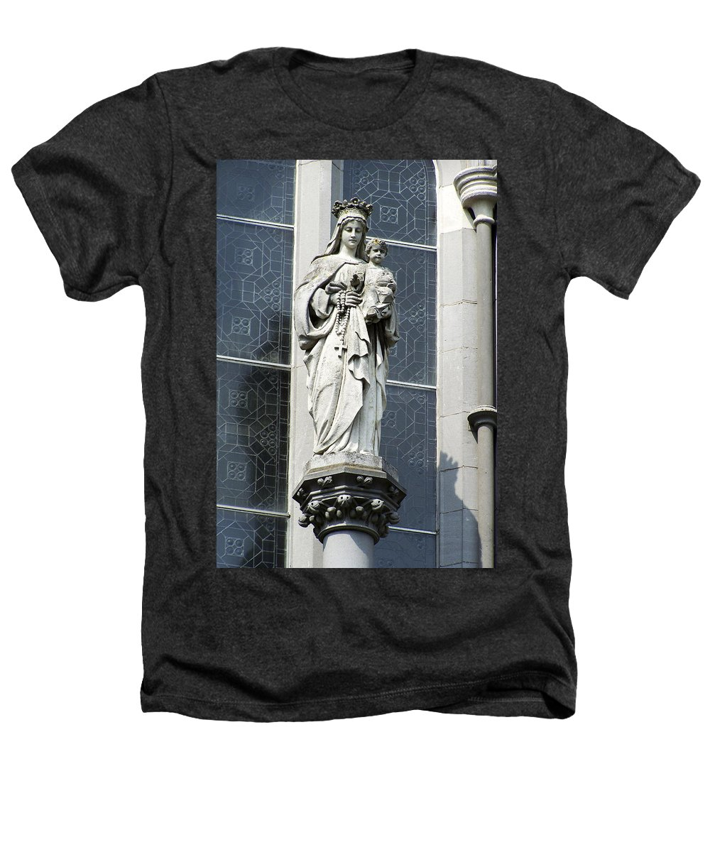 Ireland Heathers T-Shirt featuring the photograph Madonna And Child by Teresa Mucha