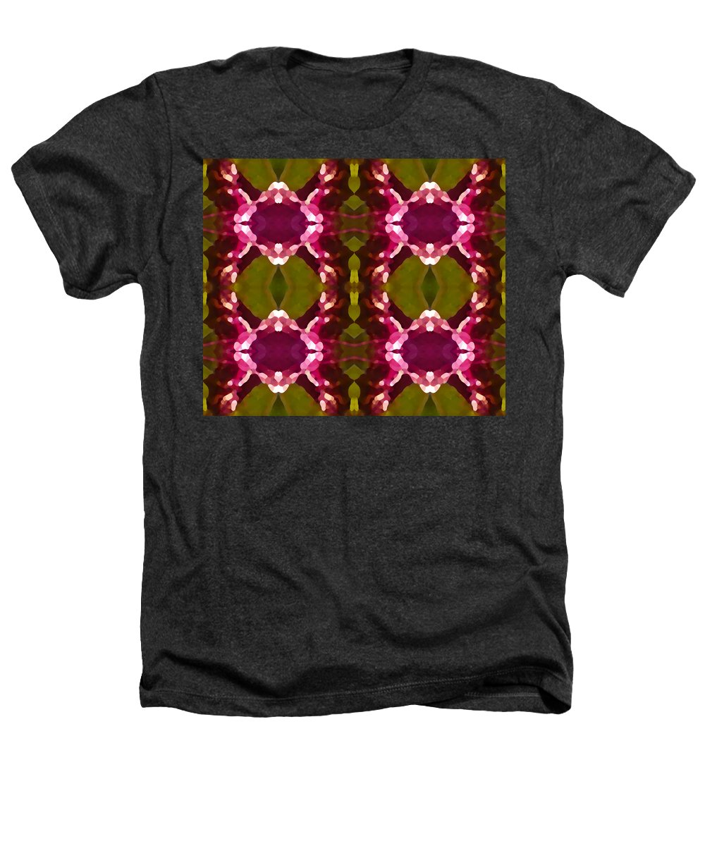 Abstract Painting Heathers T-Shirt featuring the digital art Magenta Crystals Pattern 2 by Amy Vangsgard