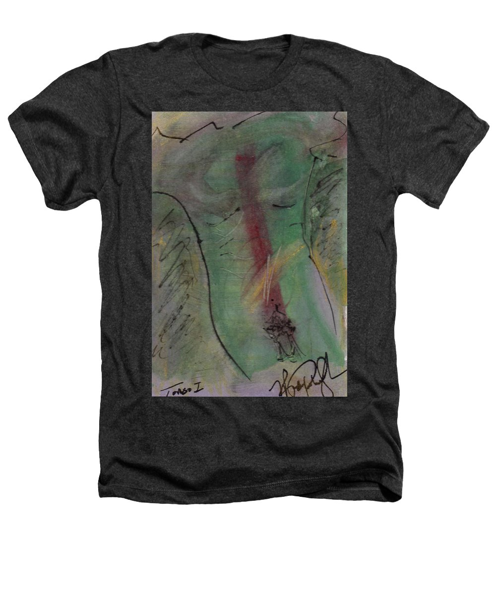 Nude Heathers T-Shirt featuring the painting Male Nude Torso 1 by Wayne Potrafka